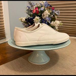 Frye maya cvo slip on sneakers in white leather